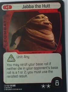 Star Wars pocketmodel Clone Wars Rare foil card no 113/120 Jabba the Hutt