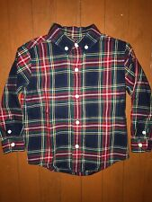 Janie and Jack Boys Plaid Button Down Shirt Size 2T Holidays