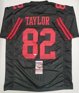 JOHN TAYLOR Signed Autographed SF 49ERS Black Custom Jersey SZ XL. JSA Witness