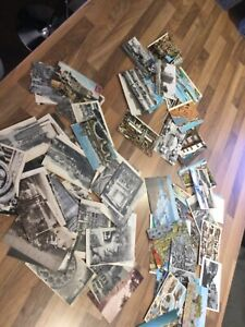 Postcards Job Lot  UK 21 Kent 41 Cornwall 73 vintage mostly french clearance **p
