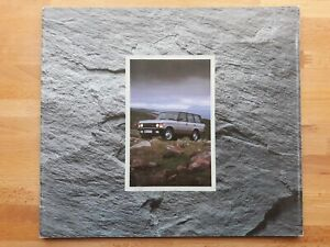 LAND ROVER RANGE ROVER  brochure 20 pages  1991