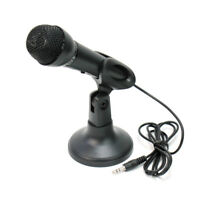 Stereo Mikrofon Mikrophon Microphone 3,5mm Klinkenstecker + Mikrofonhalt MUE