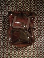 RAF SIMONS x EASTPAK S/S18 Bladerunner PVC Backpack Brown Red with Inside Bag