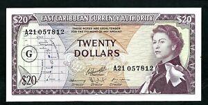 Grenada (P15j) 20 Dollars 1965 QEII XF