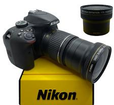 x17 FISHEYE LENS for Nikon Af-s Dx Nikkor 18-55mm f/3.5-5.6G  D5300 D3200 D3100