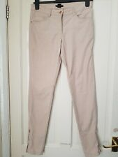 Womens H&M Pale Pink Slim Leg Corduroy trousers UK 10 EUR 36 30L