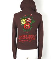ED HARDY HOODIE ROSES WOMENS SIZE SMALL