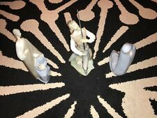 "Vintage 1985 Lladro #5357 ""Oration"" Don Quixote w Sword Great +2 other figurines"
