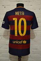 BARCELONA 2015/2016 HOME FOOTBALL SHIRT SOCCER JERSEY CAMISETA MENS S MESSI #10