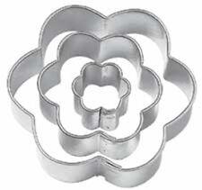Wilton 3 Piezas Mini Galleta Cortadores De Fondant Glaseado Repostería formas Flor Floral Nuevo