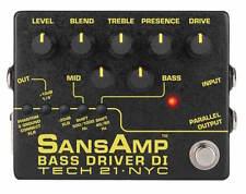 Tech 21 SansAmp Bass Driver DI V2 Bass Guitar Pedal! Version 2!!