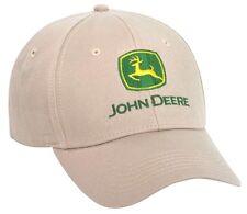 NEW John Deere Tan Stone Khaki Twill Cap LP64855