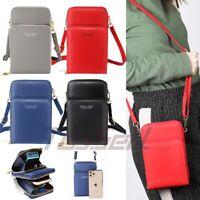 Women Leather Small Crossbody Phone Bag Cellphone Purse Card Slot Shoulder Bag