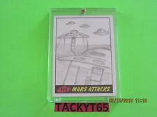 MARS ATTACKS HERITAGE  AUTOGRAPHED  SKETCH 1/1