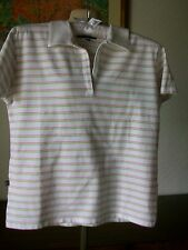 "Lyle & Scott Cotton Striped Collared Golf Top, Size Medium, U/arm 37"" Length 22"""
