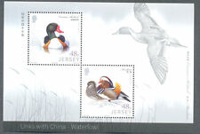 Jersey-Waterfowl-Links with China-Waterbirds mnh min sheet