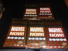 5x Five 2014 Marvel Now! Factory Sealed 7 Card HOBBY Packs Possible AUTOS SKETCH