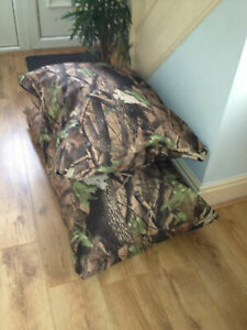 camo Waterproof Dog Bed Cushion  Heavy Duty Tough Removable Military Grade Cover