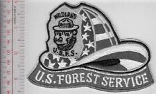 Smokey the Bear USFS Wildland Firefighter 9-11 Helmet US Forest Service Grey