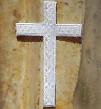 Stemma toppa termoadesivo ricamata Croce Cristiana