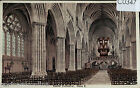 C0347cgt UK Exeter Cathedral Interior Nave East vintage postcard