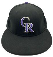 Colorado Rockies New Era 59fifty Authentic Collection Black Brim 7 1/4 Hat Cap