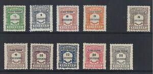 Portuguese Mozambique   1921   Porteado   #21-30 MH