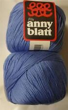 ANNY BLATT ASSOUAN MERCERIZED COTTON DK/LIGHT WORSTED YARN 1 BALL BLUE (31U)