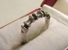 Special Modernist Ring 835 Silver Burkard & Monika OLY ___ 60er 70er years