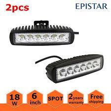 2X 6inch 18W LED Work Light Bar Spot Off-road Driving 4WD LAMP ATV UTE Truck 12V