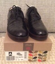 Orla KIely Clarks, Agatha Mock Croc Black Leather Shoes In Size 4, EUR 37