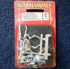 1997 morts-vivants Wight Standard porteur sur Squelette Steed 1 WARHAMMER Armée Citadelle En parfait état, dans sa boîte