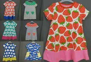 ex Mini Boden girls cotton jersey tunic top flower dress short sleeve 2-12 new