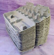 2 x 6 Moulded Paper 25 Plain Large Chicken Egg Cartons Made In U.S.A.