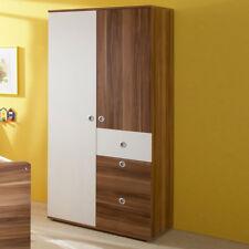 Kleiderschrank WIKI Schrank 2-türig Babyzimmer in Walnuss und weiß
