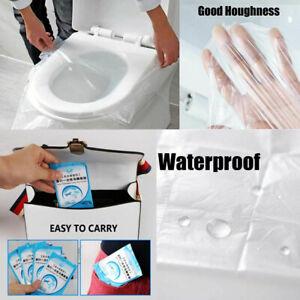 10pcs/50Pcs Biodegradable Disposable Plastic Toilet Seat Cover Travel Hygiene
