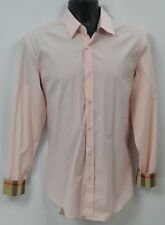 Burberry Brit  pale pink nova check button down Shirt L/S Classic top Mens M NEW