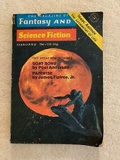 VINTAGE 1972 THE MAGAZINE OF FANTASY AND SCIENCE FICTION PAPERBACK GOAT SONG