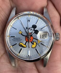 Vintage Rolex Oysterdate Precision Mickey Mouse Ref 6694 Year 1964 Watch