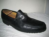MASSIMO EMPORIO Black Leather Loaffers Mens Dress Bit Shoes Size 13.