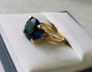 Hollywood Collection Jewellery Luna Turner Ring wore in Movie Sapphire
