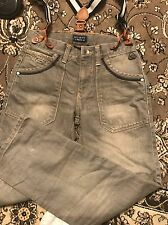 Mexx Grey Jeans With Detachable Suspenders      Boys Size 10