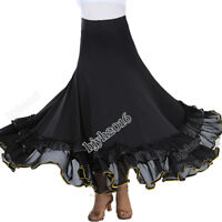 Flamenco Skirt Women Ballroom Dance Waltz Modern Standard Party Dress Big Swing