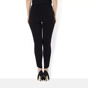 Kim & Co Brazil Jersey Full Length Legging with Ruching Black XL