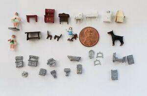 Vintage Miniature Dollhouse 1/144 Scale Furniture Huge Lot Artisan Sue Utley