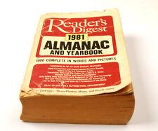 READER'S DIGEST 1981 ALMANAC & YEARBOOK  (W-4-B-6-5)