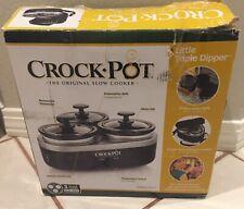 Crock Pot Little Triple Dipper slow cooker 3 X 16oz.Each crocks Used Orig Box