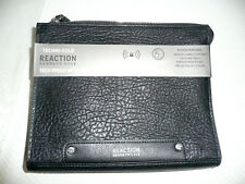 Kenneth Cole Reaction Black IPad Travel Pouch RFID Security Blocking w/ Earbuds
