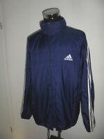 vintage 90s Adidas Regenjacke Nylon Jacke blau oldschool 90er Jahre glanz D9 XL