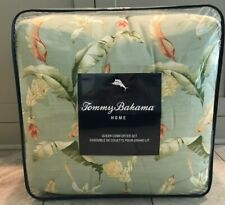 TOMMY BAHAMA Bananas for You Green Orange Tropical 3p Full/Queen Comforter Set